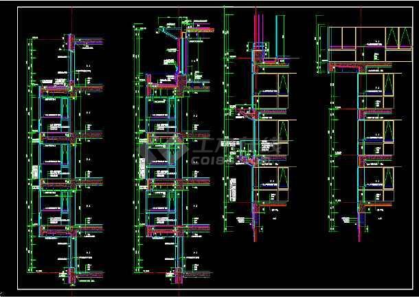 某外墙大样全套cad设计施工图纸-图1