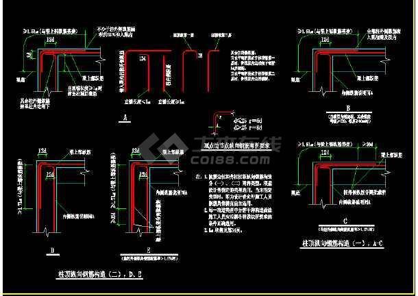 详细建筑构造大样cad设计施工图-图2