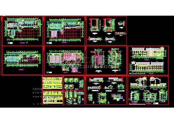 点击查看太湖古建筑全套施工cad设计方案图纸第1张大图