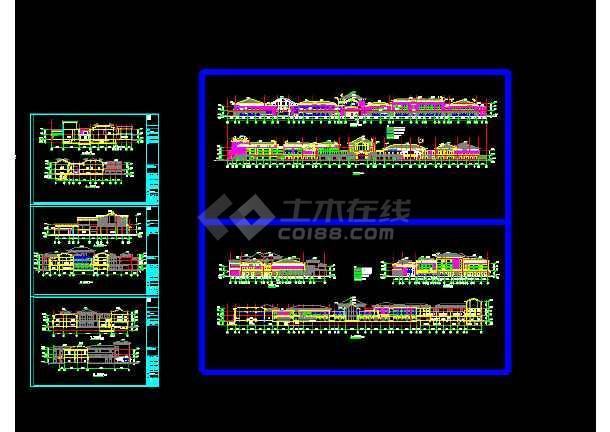 中国文化的现代化五星级酒店建筑cad图纸-图1