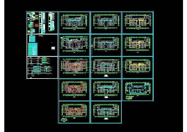 点击查看七套三层幼儿园建筑电气设计CAD图第1张大图