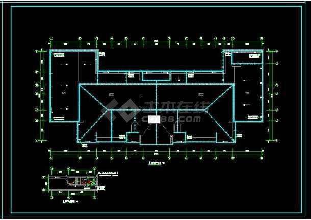 七套三层幼儿园建筑电气设计CAD图-图3