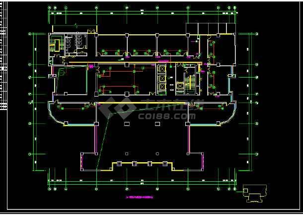 六套高层办公楼全套电气系统设计施工图-图3