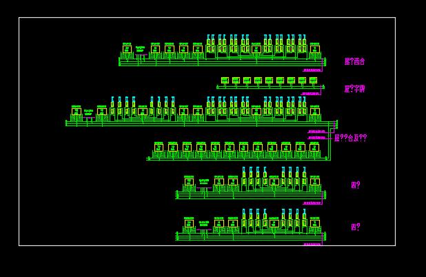 某地区霓虹灯照明系统设计CAD施工图纸图片1