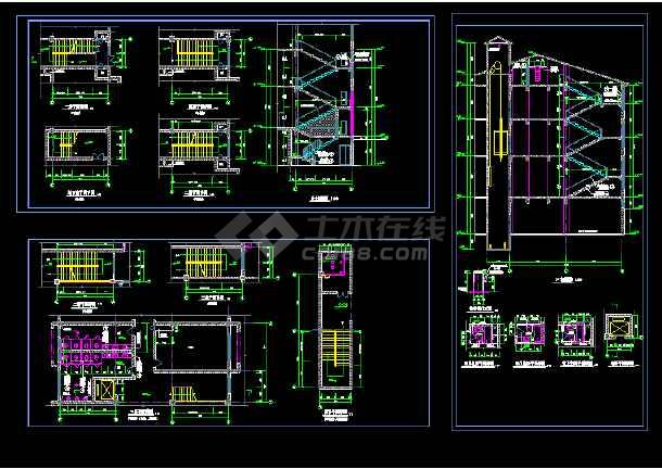 点击查看某地大型博物馆楼设计施工CAD图第1张大图