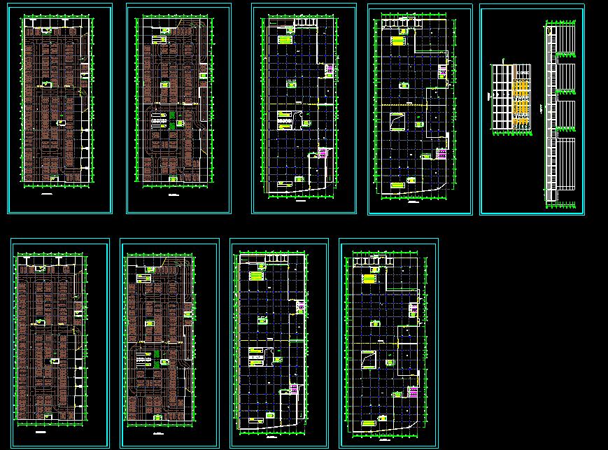 某商场建筑图(附带地下二层停车场)图片1