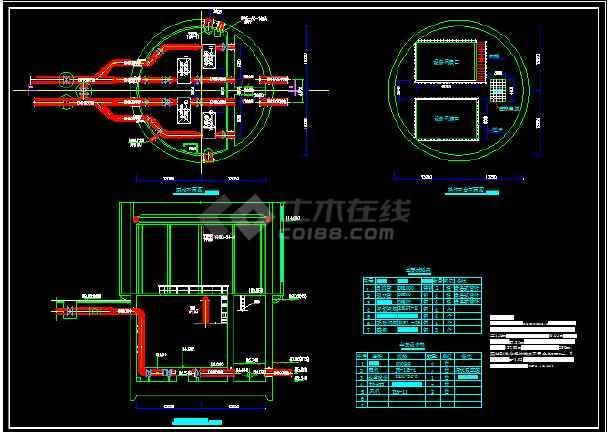 一级取水泵站课程设计图纸-图1