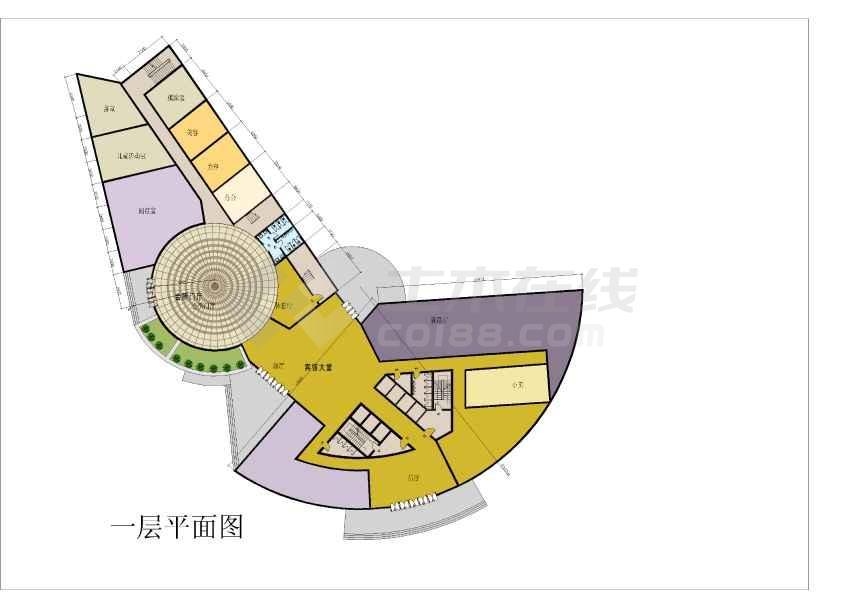 某宾馆建筑方案文本及CAD扩初方案-图1