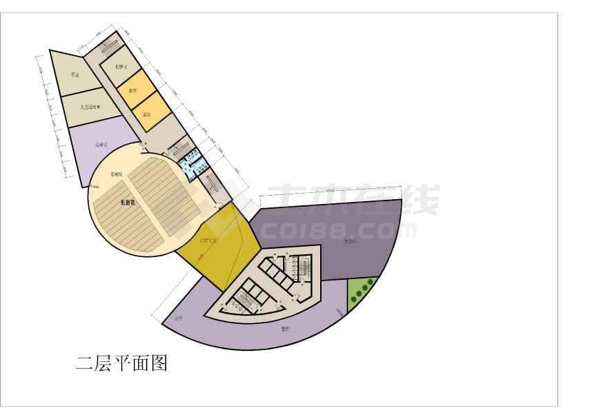 某宾馆建筑方案文本及CAD扩初方案-图2