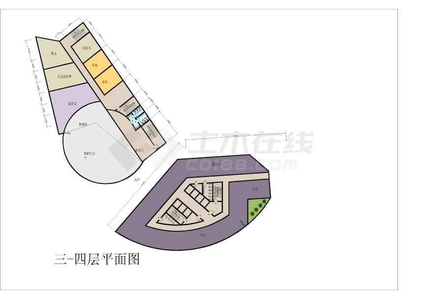 某宾馆建筑方案文本及CAD扩初方案-图3