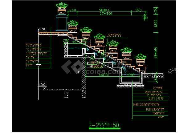 跌水景观设计及施工方案全套CAD图纸-图1