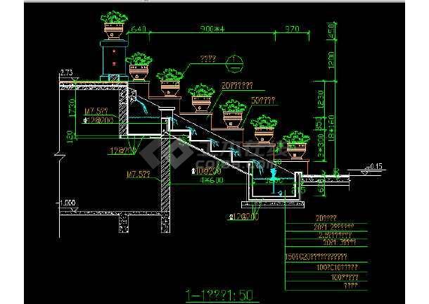 跌水景观设计及施工方案全套CAD图纸-图2