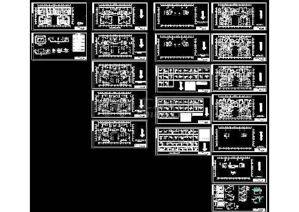 点击查看某地16层剪力墙结构高层住宅楼详细cad设计图纸第1张大图