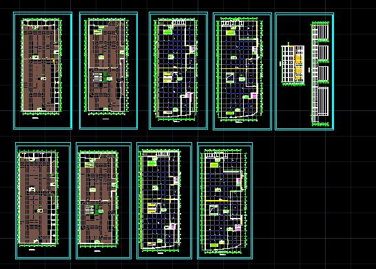 某商场建施设计CAD图(附带地下二层停车场)图片1