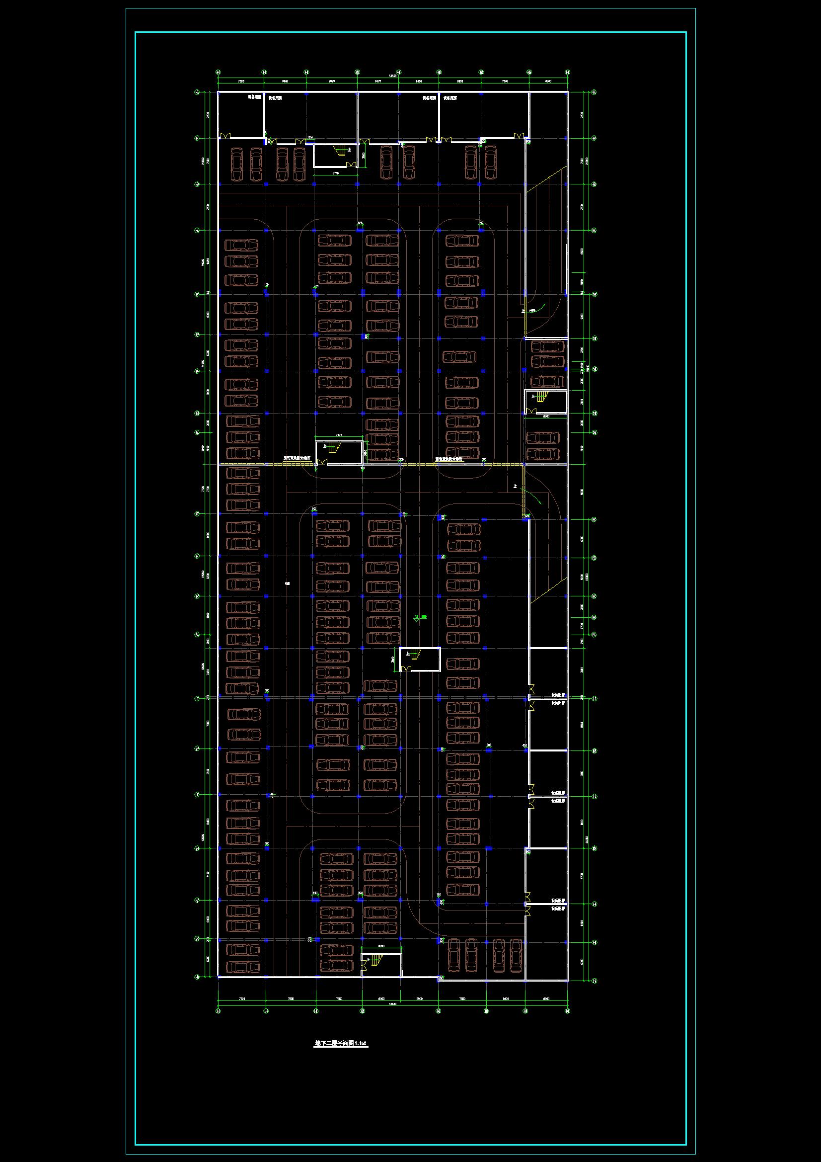 某商场建施图(附带地下二层停车场)CAD图纸(共9张)图片2