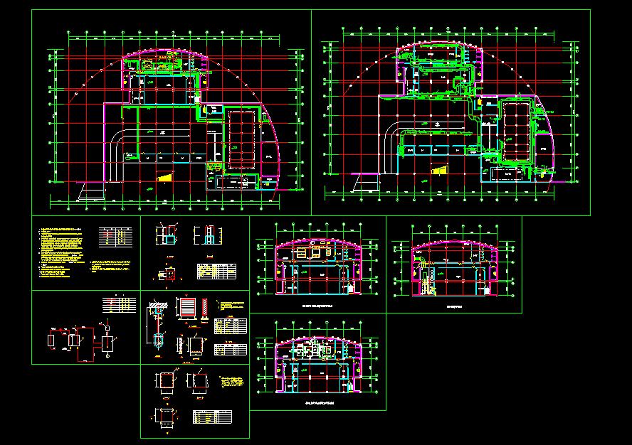 某住宅地下室中央空调全套cad施工图纸图片1