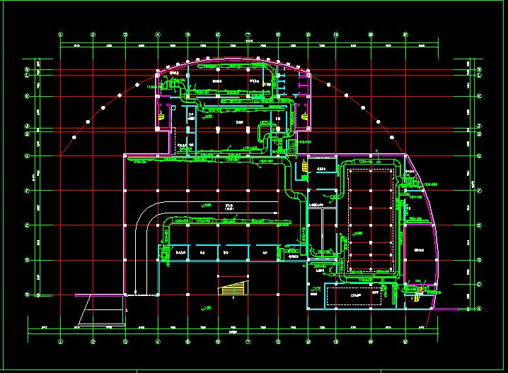 某住宅地下室中央空调全套cad施工图纸图片2