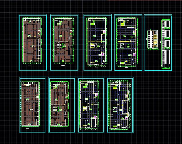 某商场建筑设计图(带地下停车场)图片1