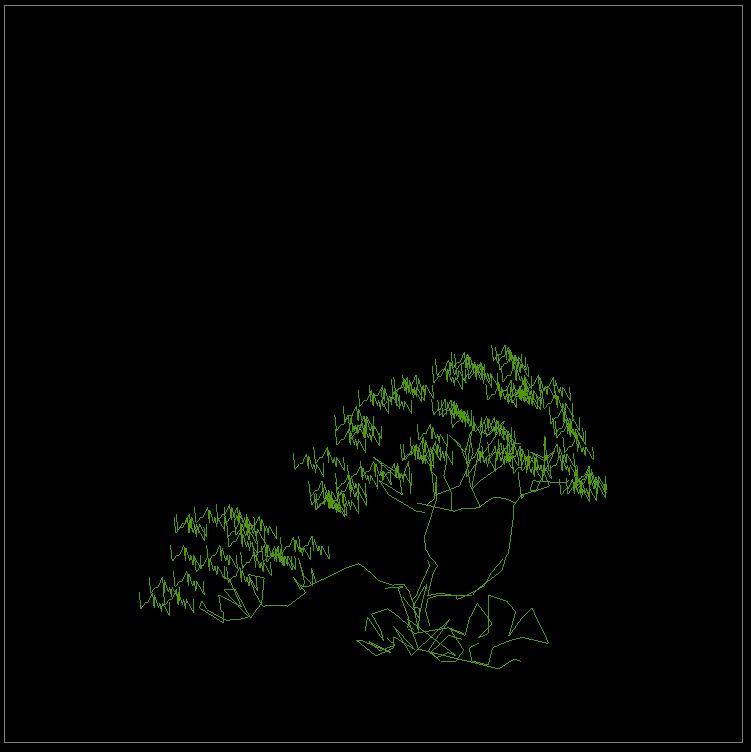 植物图例cad平面设计平立面图纸图片2