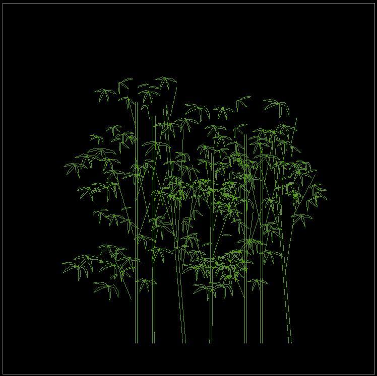 植物图例cad平面设计平立面图纸图片3