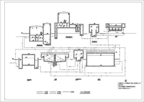 某大豆制油厂工业废水处理设计图-图一