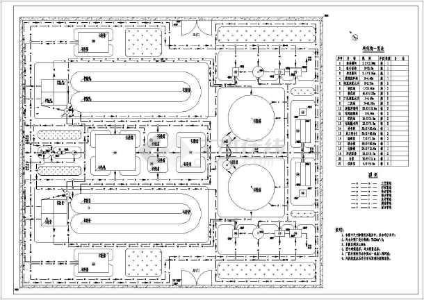 某大豆制油厂工业废水处理设计图-图1