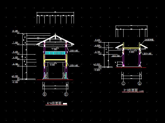 一套古建筑方案设计全套CAD图纸图片2