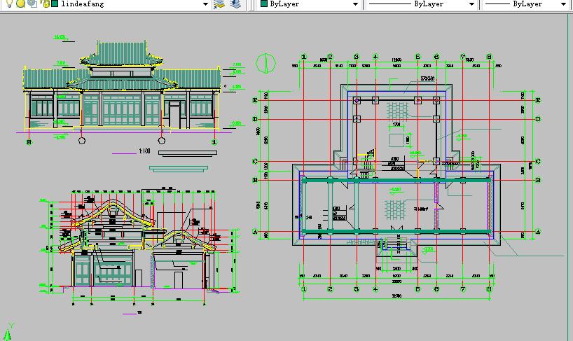 仿古建筑方案设计与施工全套CAD图纸图片1