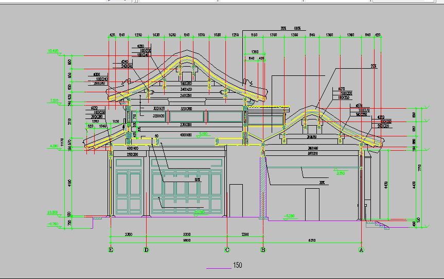 仿古建筑方案设计与施工全套CAD图纸图片3