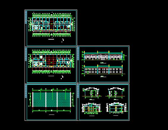 居士房古建筑方案设计全套CAD图纸图片1