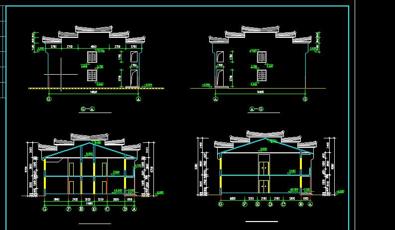 居士房古建筑方案设计全套CAD图纸图片2