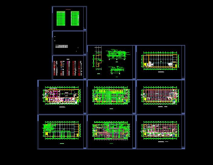 洁净厂房空调系统平面布置cad施工图图片1