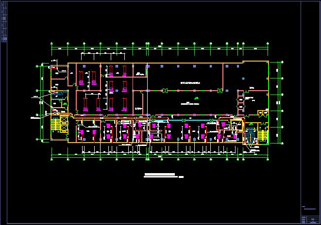 洁净厂房空调系统平面布置cad施工图图片2