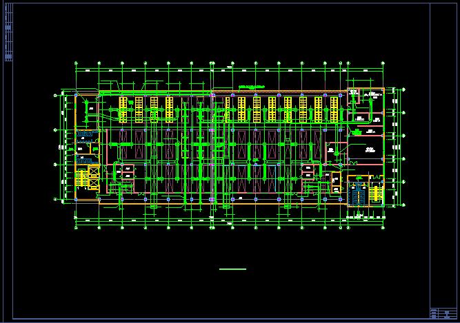 洁净厂房空调系统平面布置cad施工图图片3