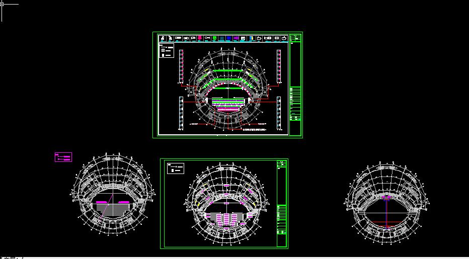 大型舞台照明系统设计方案全套CAD图纸图片1