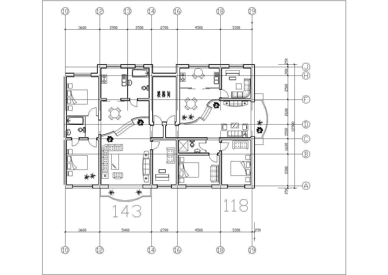 经典布局-一梯两户住宅户型图(共16张)图片2
