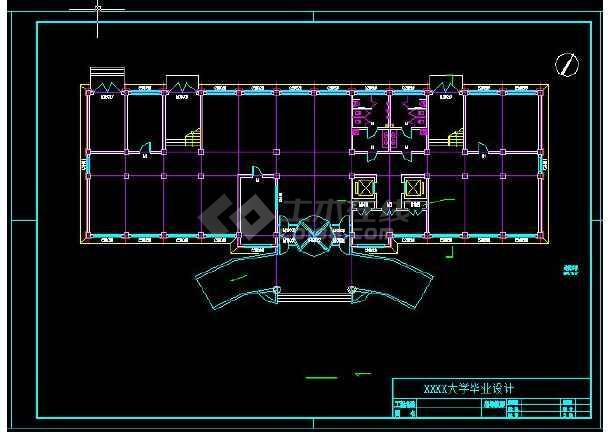 精选四层办公楼建筑毕业设计(共5套)-图2