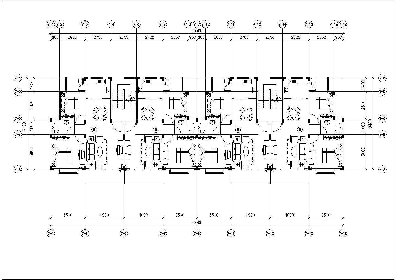 300余张详细一梯两户住宅户型图设计图片2