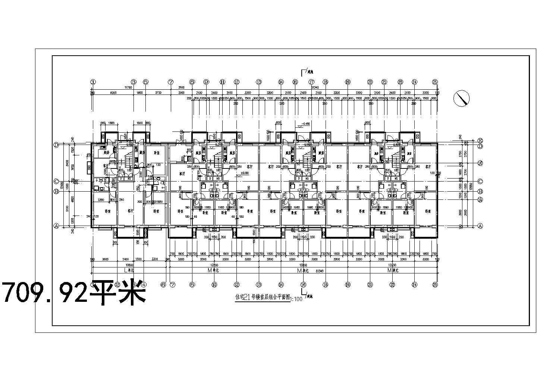 某详细的花园小区安置多层住宅楼图纸图片1