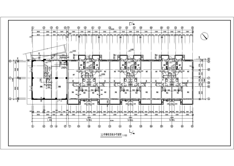 某详细的花园小区安置多层住宅楼图纸图片3