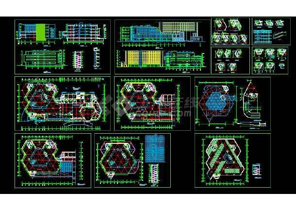 点击查看某展览中心建筑施工cad设计方案图纸第1张大图