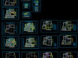 别墅电气照明布线设计cad施工方案图图片1