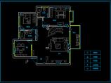别墅电气照明布线设计cad施工方案图图片2