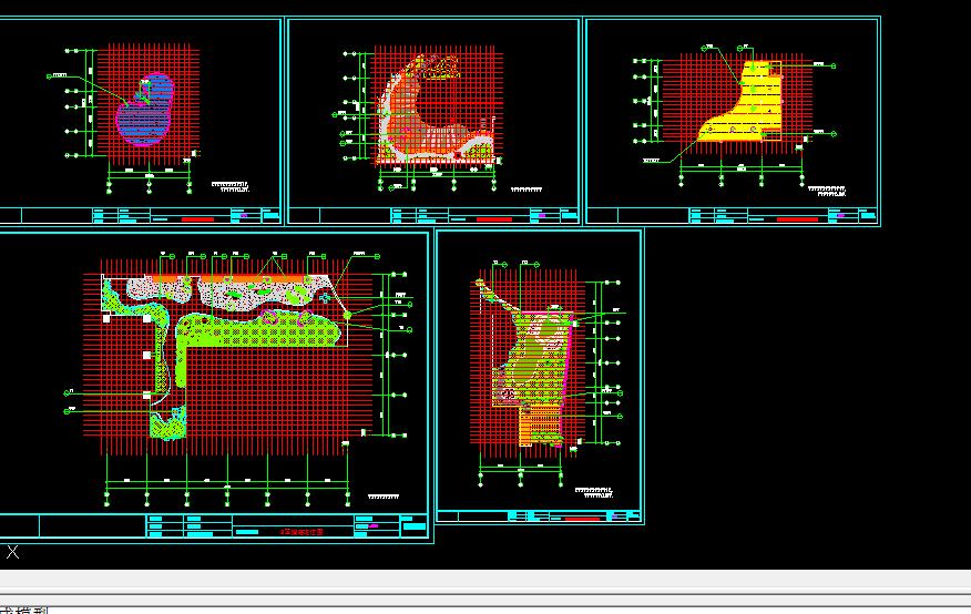 某别墅设计方案全套CAD定位平面图与总平面图片1