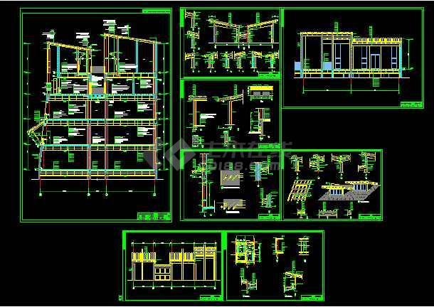 点击查看黄永玉博物馆建筑施工cad设计方案图纸第1张大图
