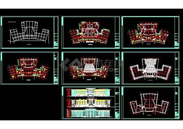 点击查看永定区区治文化馆建筑施工cad设计方案图纸第1张大图