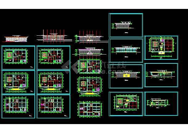 点击查看城市展览馆建筑结构施工设计方案详图第1张大图
