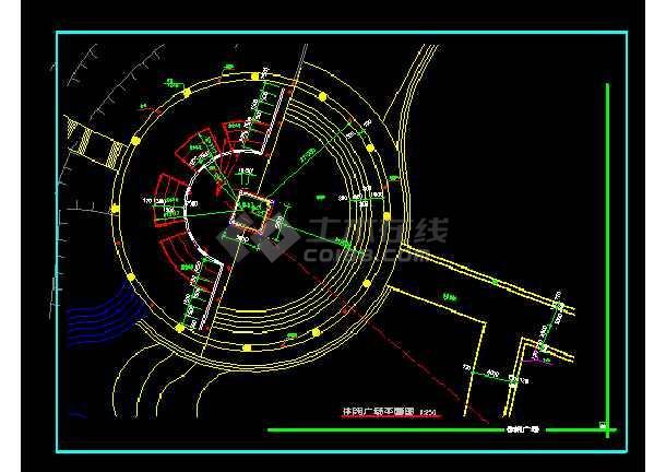 雕塑、休闲、城市广场建筑cad设计图-图1