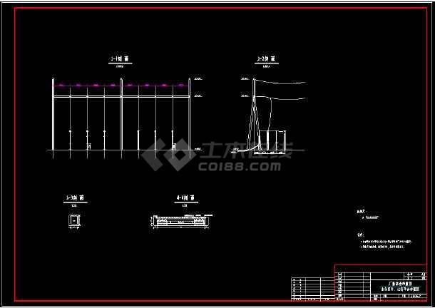 某市技术施工厂房cad综合平面设计图-图3