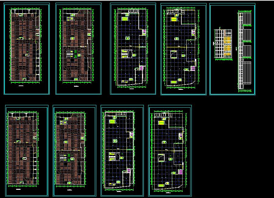 某多层商场建施图(附带地下二层停车场)图片1